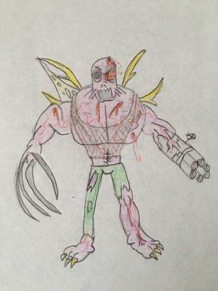 Earliest sketch of a Super Human (1998).
