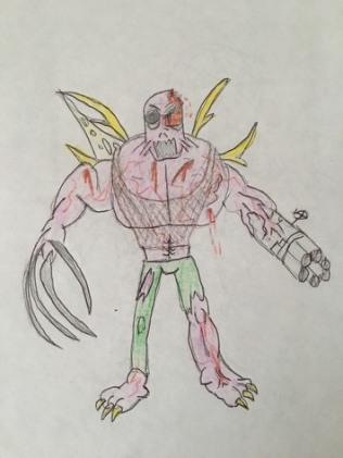 Earliest sketch of a Super Human (1998).